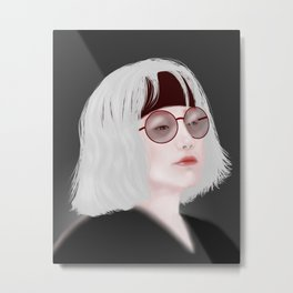 Miss Evie The Witch Metal Print