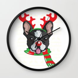 reindeerdog boston Wall Clock
