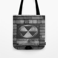 fallout Tote Bags featuring Fallout by Lia Bedell