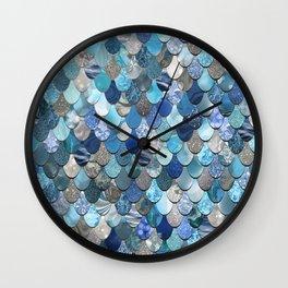 Mermaid Art, Ocean Blue Wall Clock