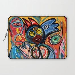 Yellow Life With Birds Street Art Laptop Sleeve