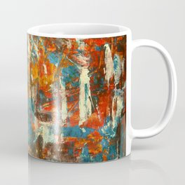 An Oasis In A Desert Abstract Painting Coffee Mug