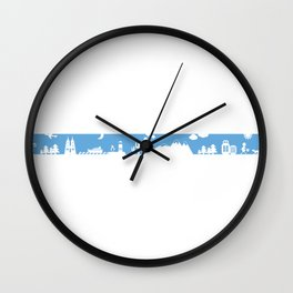 Find your angle_Travel_MonoBlue Wall Clock