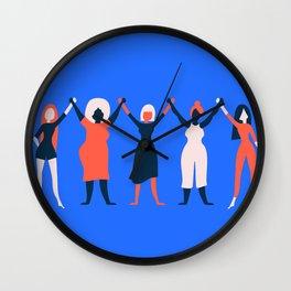 Girl Gang - Blue Wall Clock