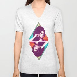 AmyWinehouse LowPoly Collection Unisex V-Neck
