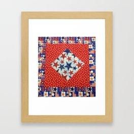 Susie's Quilt Framed Art Print