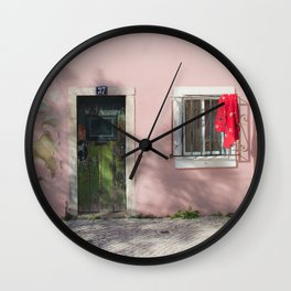 green and red Lisbon Wall Clock