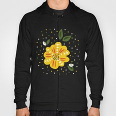 Abstract Yellow Primrose Flower Hoody
