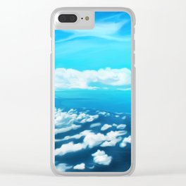 Above the world Clear iPhone Case
