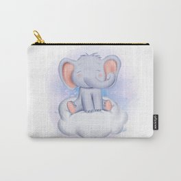 Happy elephant on the cloud Carry-All Pouch