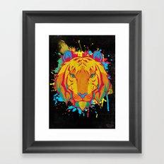 Cat Series: Tiger Framed Art Print