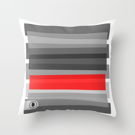 Cherry NOIR Throw Pillow