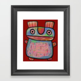 Rabbit work out Framed Art Print