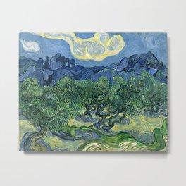 The Olive Trees by Vincent van Gogh Metal Print