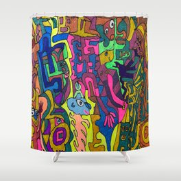 A World with Color! Shower Curtain