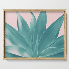 Blush Agave Finesse #1 #tropical #decor #art #society6 Serving Tray