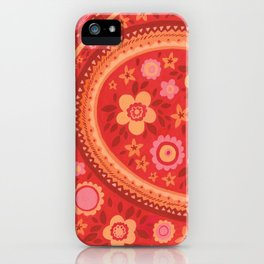 Bright Red Flowers iPhone Case