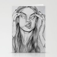cara Stationery Cards featuring Cara by David Pérez