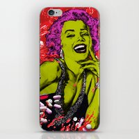 "marylin monroe iPhone & iPod Skins featuring We died for you ""Marylin Monroe"" by Olivier Dressen aka ""HERO"""