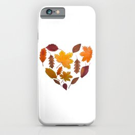 Heart of Fall iPhone Case