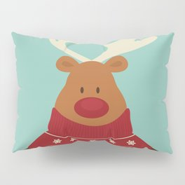 Rudolph Red Nosed Reindeer in Ugly Christmas Sweaters Pillow Sham