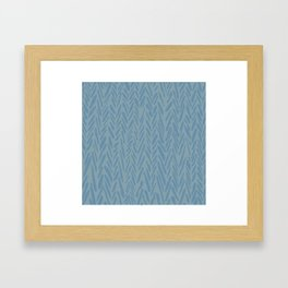 Herringbone pattern - blue tones Framed Art Print