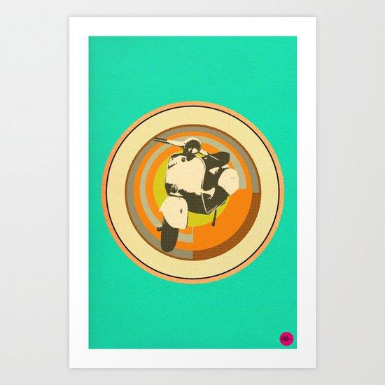 Mod Vespa Art Print