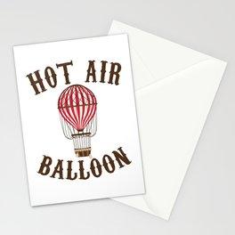 Hot Air Balloon Retro Balloonist Pilot Ballooning Stationery Cards