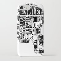 hamlet iPhone & iPod Cases featuring Shakespeare's Hamlet Skull by MollyW