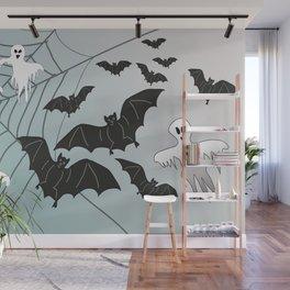 Bats & Monsters Halloween Spider Web Wall Mural