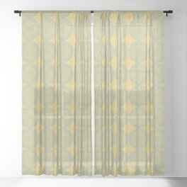 Vintage Inspired Circles in Contrast Sheer Curtain