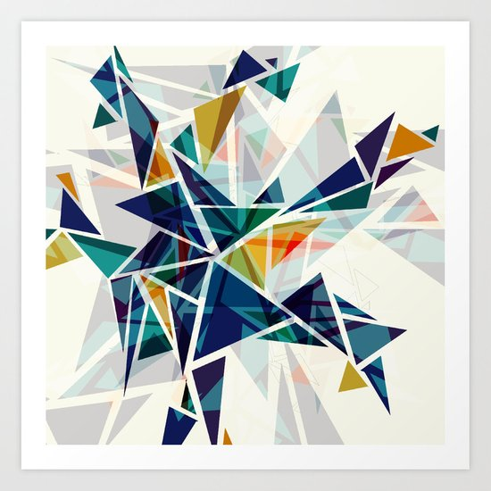 Cracked I Art Print