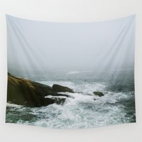 maine Wall Tapestries featuring Maine Coast by Eastlyn Bright
