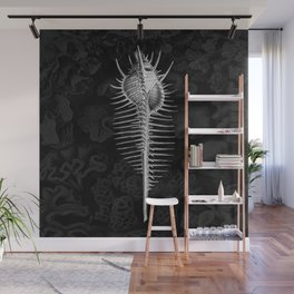 Murex1 (Black & White, Square) Wall Mural