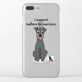 Schnoodle Supporting Healers Clear iPhone Case