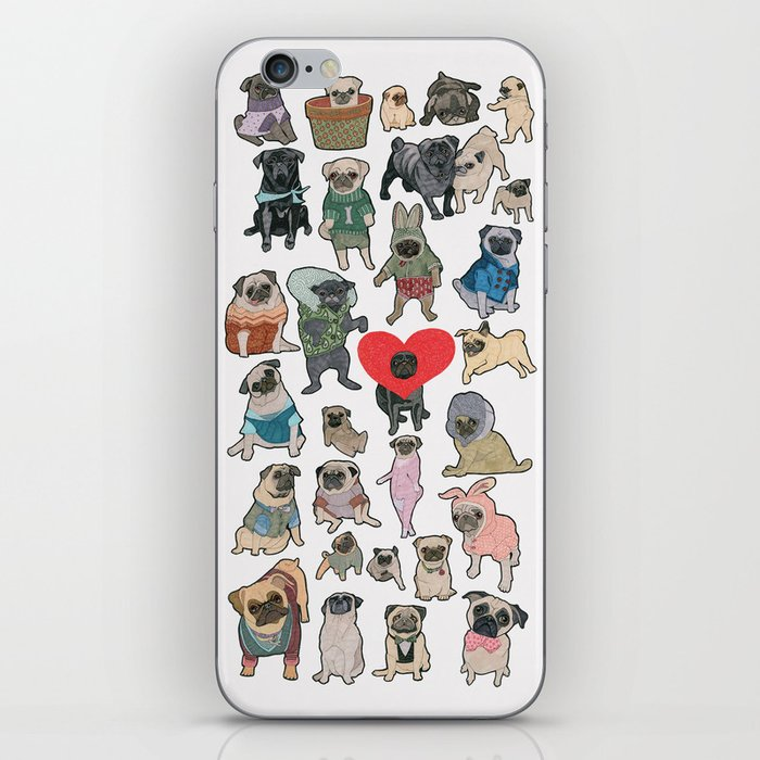 Pugs iPhone Skin