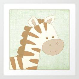 Zebra Jungle Series Print Art Print