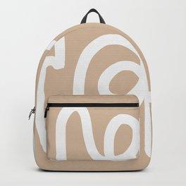 beige squiggle Backpack