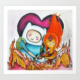 Finn and Flame Princess Art Print