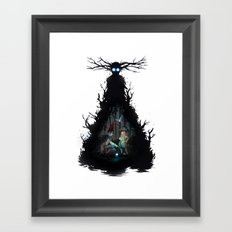 Dark days in  the woods Framed Art Print