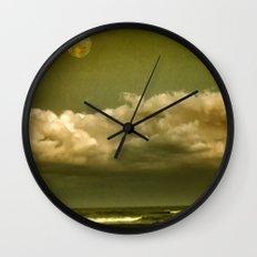 Alien Shore Wall Clock