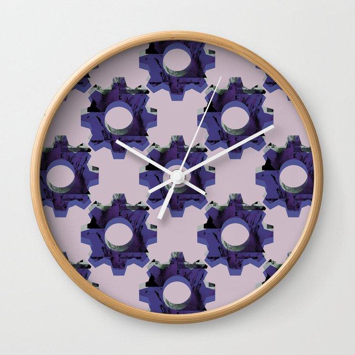 IMPROBABLE GREASE REEL blue pat. Wall Clock