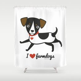 I love farmdogs Shower Curtain