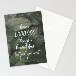 there's a million things I haven't done-hamilton Stationery Cards