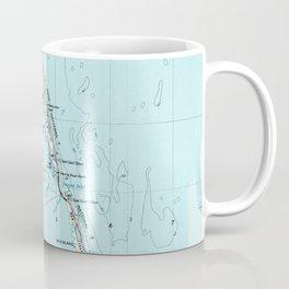 Vintage Southern Outer Banks Map (1957) Coffee Mug