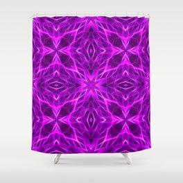 Abstract Geometric Light Factual Bright Fuchsia Shower Curtain