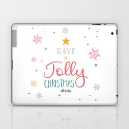 Have A Jolly Christmas Star Mistletoe Laptop & iPad Skin