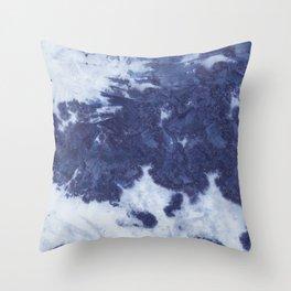 Indigo tie dye Throw Pillow