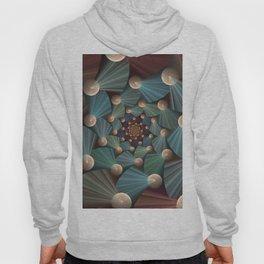 Graphic Design, Modern Fractal Art Pattern Hoody