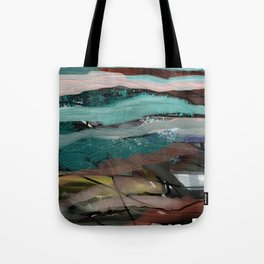 Layered Abstract Sunsets Tote Bag